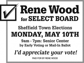 Rene Wood For Select Board