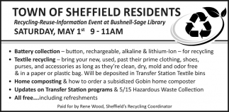 Town Of Sheffield Residents