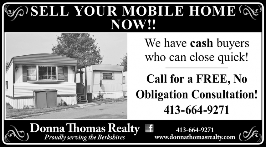 Sell Your Mobile Home Now!