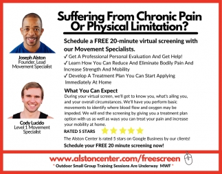 Suffering From Chronic Pain or Physical Limatiton