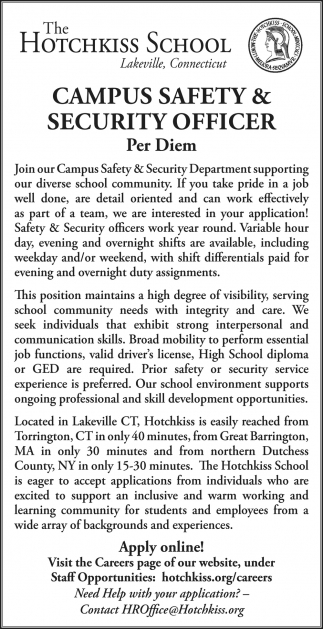 Campus Safety & Secutiry Officer
