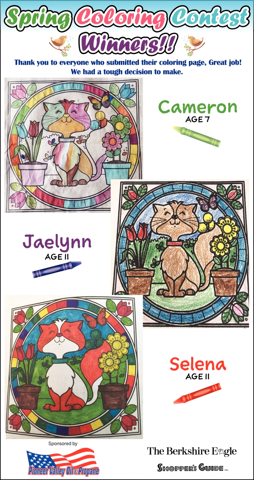 Spring Coloring Contest Winners