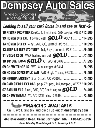 Looking To Sell Your Car?