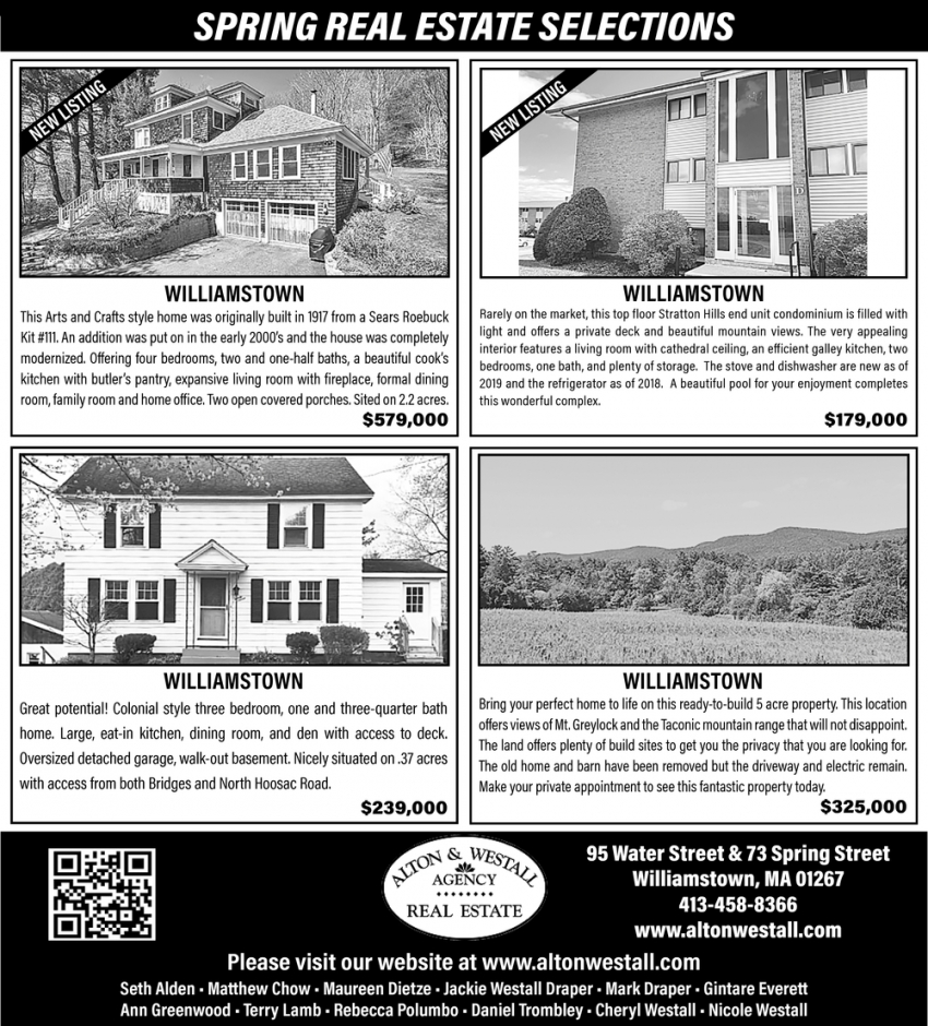 Spring Real Estate Selections