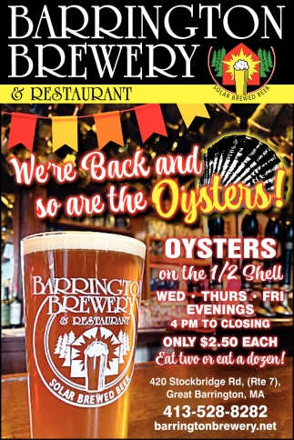 We're Back And So Are The Oysters!