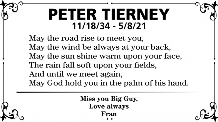 In Loving Memory Of Peter Tierney