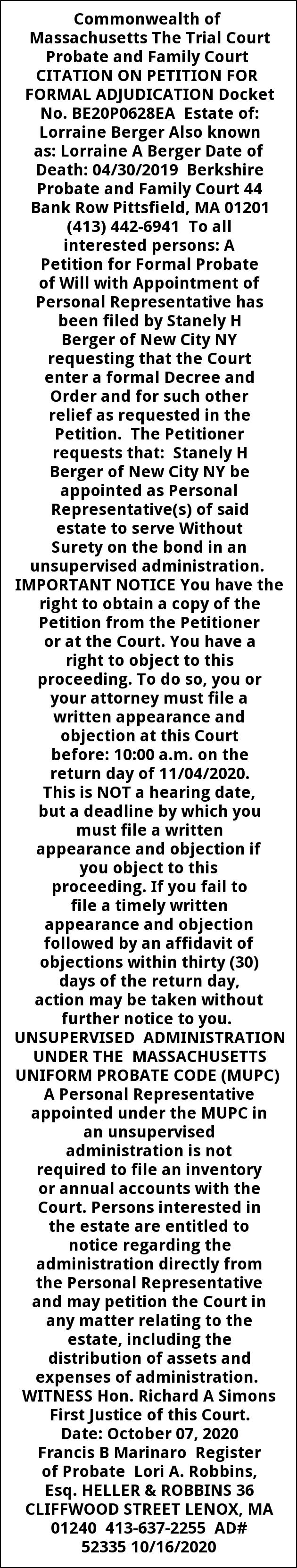 Citation On Petition