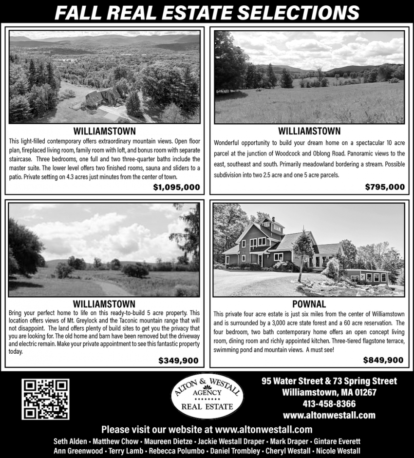 Fall Real Estate Selections