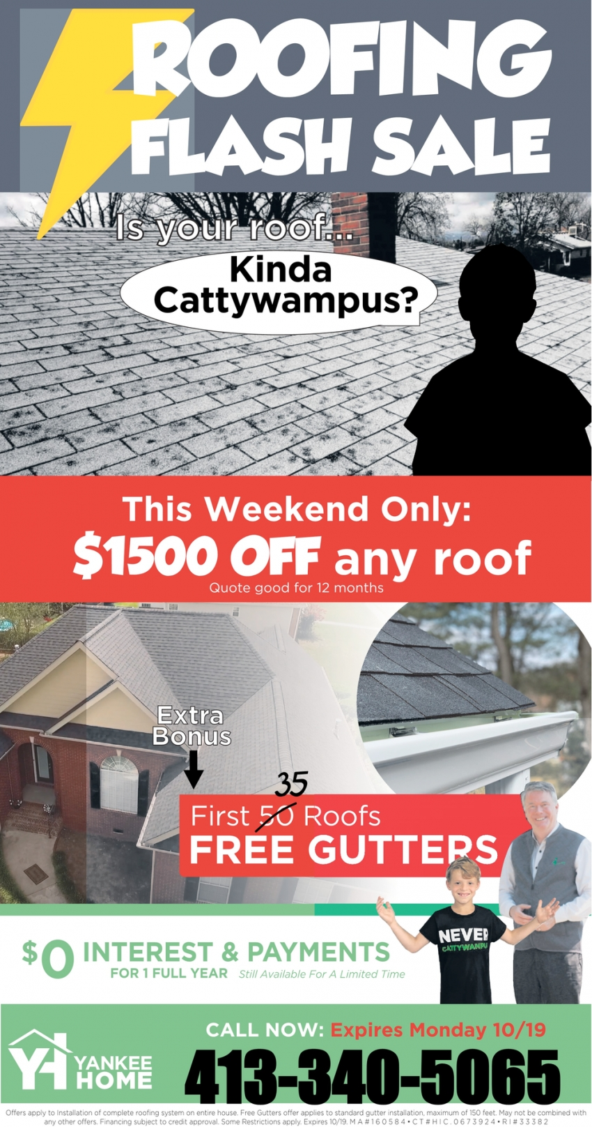 Roofing Flash Sale