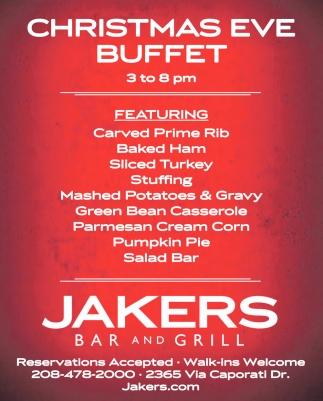 Christmas Eve Buffet, Jakers Bar and Grill, Idaho Falls, ID