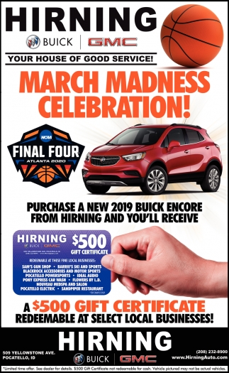 march madness hirning buick gmc pocatello id shop local with the idaho state journal