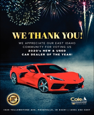 We Thank You Cole Chevrolet