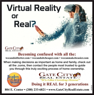 Virtual Realty or Real?