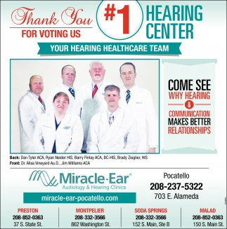 Thank You for Voting Us #1 Hearing Center