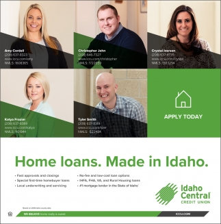 Home Loans. Made in Idaho