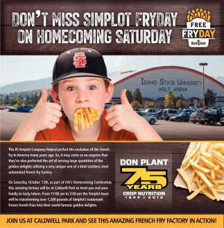 Don't Miss Simplot Friday on Homecoming Saturday