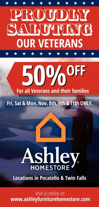 50% OFF For All Veterans and Their Families