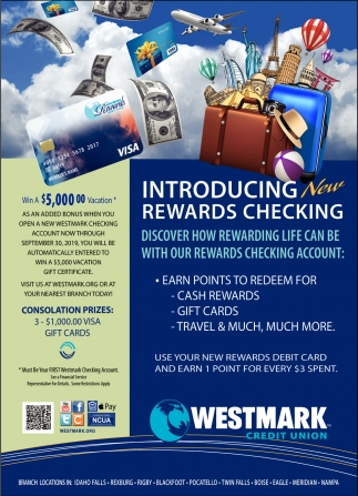 Itroducing New Rewards Checking