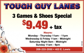3 Games & Shoes Special