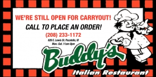 We're Still Open for Carryout
