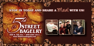 Stop in Today and Share a Meal