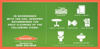 Servpro Recommend the Cleaning