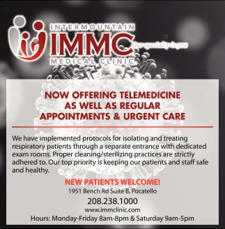 Now Offering Telemedicine