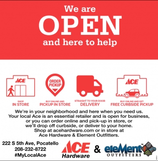 We Are Open and Here to Help