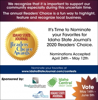 It's Time to Nominate Your Favorites for Idaho State Journal's 2020 Readers' Choice