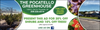 20% OFF Shrubs and 10% OFF Tress