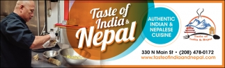 Authentic Indian & Nepalense Cuisine