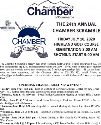 24th Annual Chamber Scramble