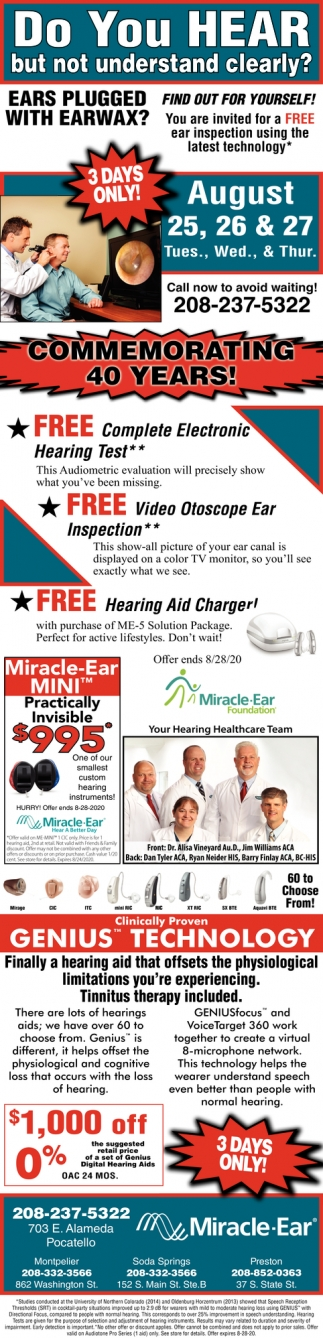 Free Complete Electronic Hearing Test