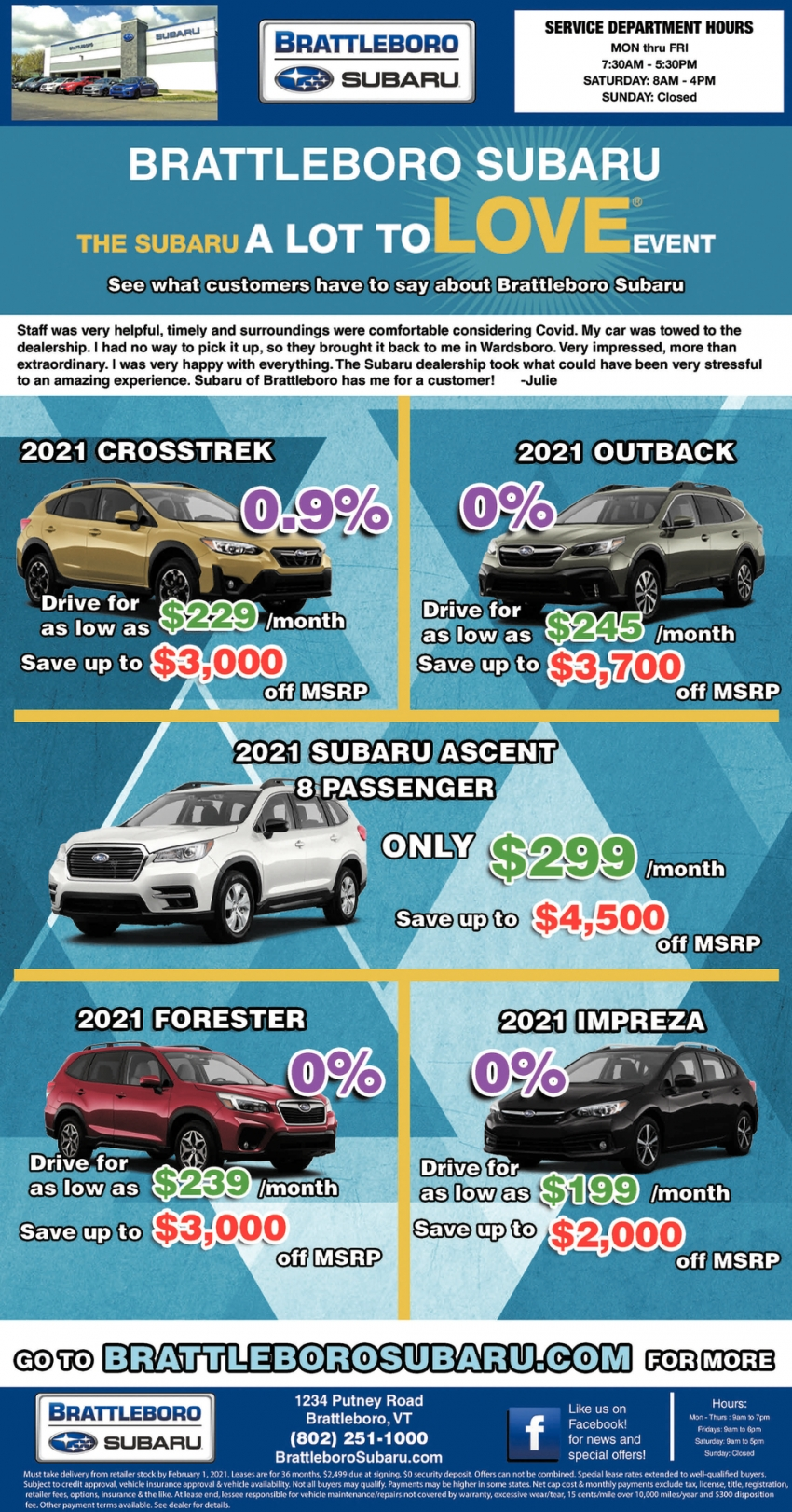 The Subaru A Lot To Love Event
