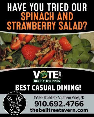 Have You Tried Our Spinach And Strawberry Salad?