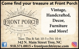 Come Find Your Treasure At Front Porch