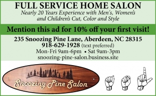 Full Service Home Salon
