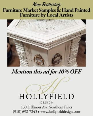 Now Featuring Furniture Market Samples & Hand Painted Furniture By Local Artists