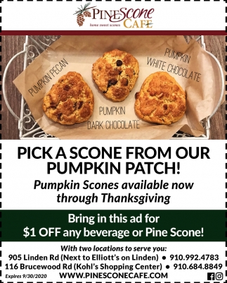 Pick A Scone From Our Pumpkin Patch!