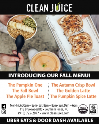 Introducing Our Fall Menu!