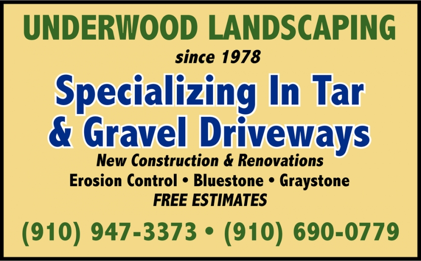 Specializing In Tar & Gravel Driveways