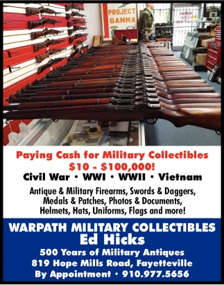 Paying Cash For Military Collectibles