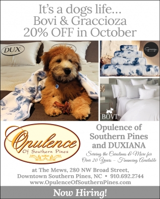 It's A Dogs Life... Bovi & Graccioza 20% Off In October