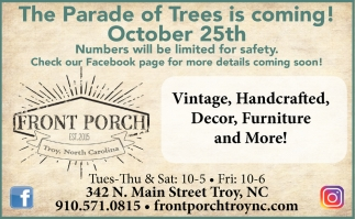 The Parade Of Trees Is Coming!