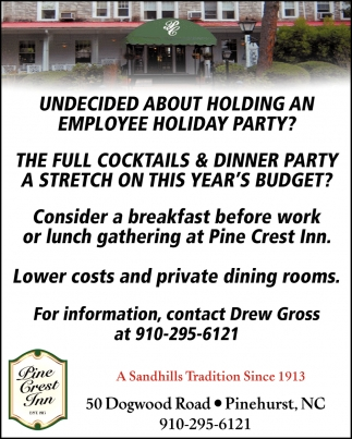 Lower Costs And Private Dining Rooms