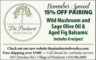 November Special 15% Off Pairing