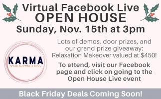 Virtual Facebook Live Open House