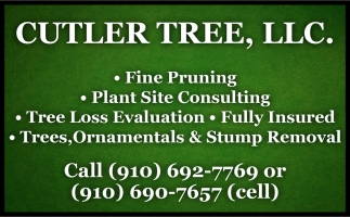 Fine Pruning - Plant Site Consulting - Tree Loss Evaluation - Fully Insured