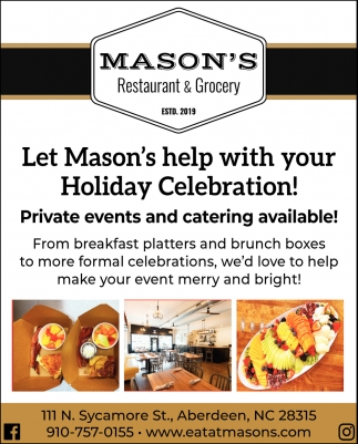 Private Events And Catering Available!