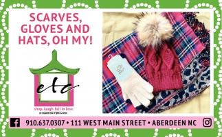 Scarves, Gloves And Hats, Oh My!